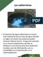 Agua dulce subterránea