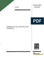 COVENIN 2219-1987 Simbolos Sistemas Tuberias[1]