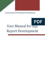 User Manual for SQL Report Development