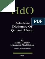 Arabic English Dictionary of Qur Anic Usage