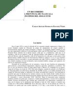 Giordano Sanchez, 2005. Un Recorrido Por La Provincia de Tlaxcala a Principios Del Siglo XVII