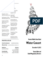 Norwin Middle School Concert Band Program Winter 2012