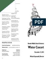 Norwin MS Orchestra Program Winter 2012