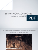 Snapshot and Composed Photographs