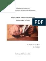 Diseño y Rediseño de la Cultura Organizacional - Cultura Integral