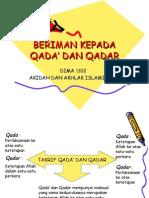 BERIMAN KEPADA QADA' DAN QADAR