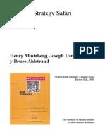 AE Strategy Safari Mintzberg