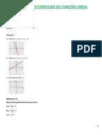 Ejercicios Resueltos de Funciones Lineales - Parte 2