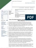 """UNHCR | Refworld | State of the World's Minorities and Indigenous Peoples 2009 - Burma (Myanmar)"""