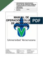 MANUAL DE OPERACIÓN COLUMNA ABSORCION-DESORCIÓN