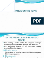Entrepreneurship Training Model