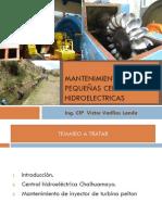 Mantenimiento pequeñas centrales HIDROELECTRICAS