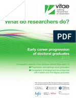 What Do Researchers Do Early Career Progression 2013