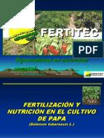 Fertilizaci n y Nutrici n en El Cultivo de Papa 2006