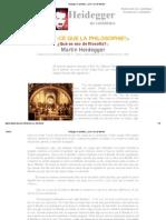 Heidegger en castellano - ¿Qué es eso de filosofía_
