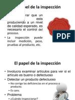 El papel de la inspección