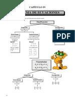 III BIM - 4to. A�o - Gu�a 4 - Sistema de Ecuaciones Lineales.doc