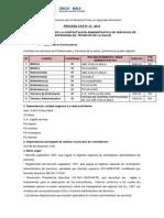 Convocatoria CAS 15-13