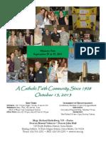 St. Rita Parish Bulletin 10/13/2013
