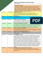 CALENDARIO DE ACTIVIDADES 1º CUATRIMESTRE