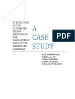 Case Study in Queueing Time of the Development Bank of the Philippines