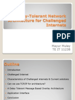 Delay tollerent network