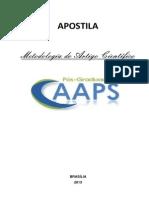 Apostila - METODOLOGIA DO ARTIGO CIENTÍFICO