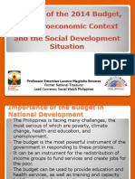 Macro Analysis of the 2014 Proposed Budget (by Prof. Leonor Briones)