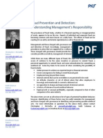 Fraud Prevention and Detection Understanding Management's Responsibility