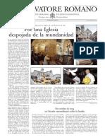 L´OSSERVATORE ROMANO - 11 Octubre 2013