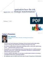 CACIO13 Does Your Organization Have the Risk Appetite for Strategic Transformation?