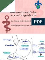 Alteraciones de la secreción gástrica