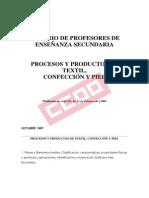 Temario de Procesos y Productos de Textil, Confeccion y Piel
