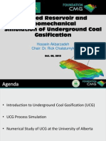 Coupled Reservoir and Geomechanical Simulation of Underground Coal Gasification