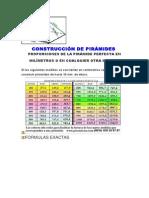CONSTRUCCIÓN DE PIRÁMIDES