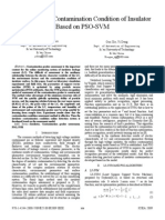 Assessment of Contamination Condition of Insulator Based on PSO-SVM
