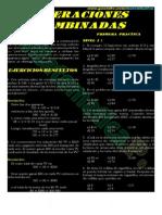 Operaciones Combinadas Ejercicios Resueltos-cuarto de Secundaria PDF _ Matematica