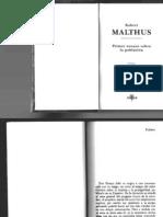 Malthus Robert - Primer Ensayo Sobre La Poblacion