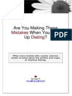 Intuitive Eating Mistakes