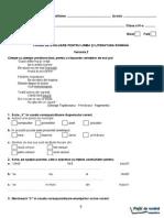 Romana.info.Ro.2352 Evaluarea Nationala - Lb.romana - Clasa a IV-A - Test Pilot