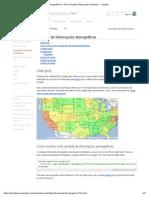 Camada de informações demográficas - API do Google Maps para Empresas