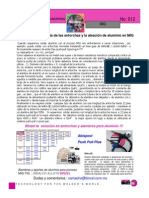 La importancia de las antorchas y la aleación de aluminio en MIG