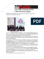 11-10-2013 Sexenio Puebla - Asiste Moreno Valle a Festejo Del 60 Aniversario Del Voto de La Mujer