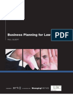 Business Planning for Law Firms