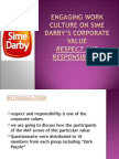 ENGAGING WORK CULTURE ON SIME DARBY'S CORPORATE VALUE2