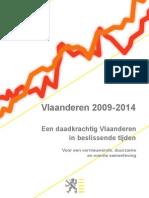 Accord du gouvernement flamand sur les lignes de force 2009-2014