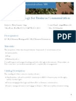 Fall 2012 BCOM 308 Syllabus
