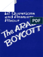 12 Answers-Questions on Arab Boycott