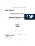 Multidimensional Approaches to Poverty Measurement