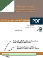 Soberania y Geopolitica Venezolana